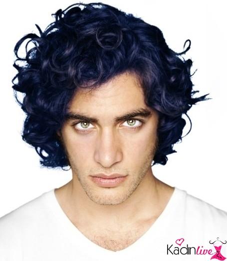 Mavi Siyah Saç Rengi Erkek Kadinlivecom