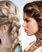 Örgülü En Güzel Saç Modelleri