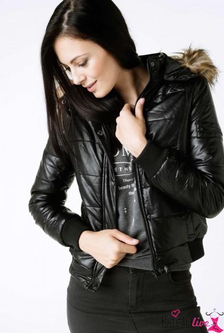 Defacto Siyah Suni Deri Kürklü Ceket Modelleri