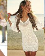 İlkbahar Yaz Modası: Yazlık Örgü Elbise Modelleri 2018-2019