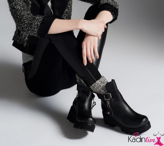 f58bfba8edba6 Sonbahar kış inci kadın bot ve ayakkabı modelleri 2018-2019, koleksiyonuna  şık feminen tasarımlarla hayat veren detaylar dikkatlerden kaçmıyor.