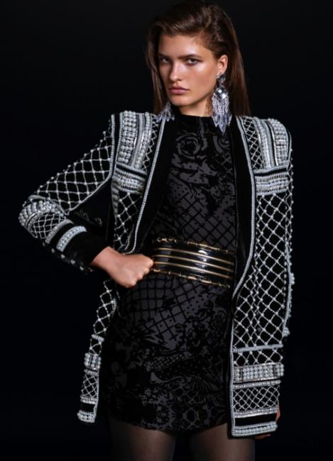 Yeni Sezon Balmain x H&M İşlemeli Hırka Ceketler