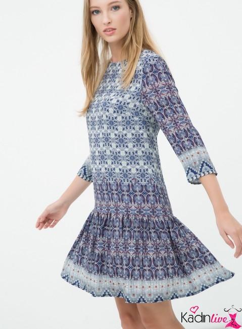 c8109cdf70da4 Modern kadınlara elegant duruş sergilemesine yardımcı olan koton özel elbise  modelleri 2018-2019 yaz modasında zarif çizgileri, farklı desenli elbiseler  ...