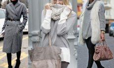 Trend Gri Kışlık Kıyafet Kombinleri 2016