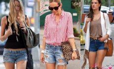 İlkbahar Yaz Trendleri: Jeans Kot Şort Kombinleri 2018-2019