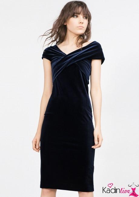 Yeni Sezon Zara Şık Kadife Elbise Modelleri