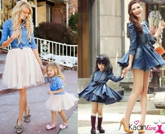 Anne Kız Elbise ve Kıyafet Kombinleri - Kadinlive.com