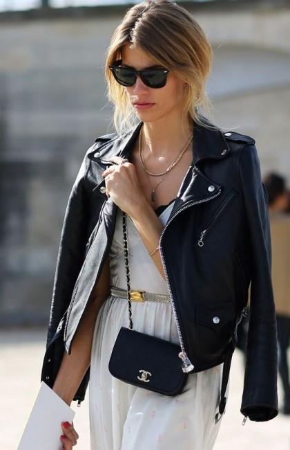 Deri Ceket Omza Sokak Stili Kombini