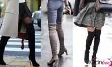 Diz Üstü Çizme Modelleri ve Kombinleri