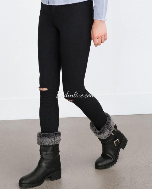 8c59ebbbb63fd Galerideki beğendiğiniz 2018-2019 kış trendleri olan çizme ve bot  modellerinin tümü Zara mağazalarından temin edebilirsiniz.