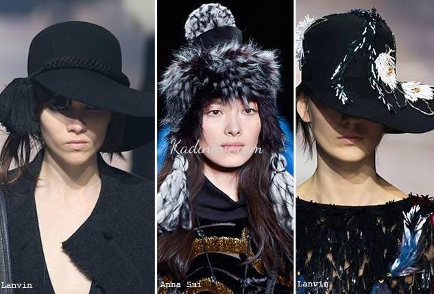 Püsküllü Sonbahar Kış Bayan Şapka Modelleri