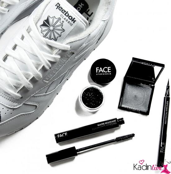 Reebok Beyaz Spor Ayakkabı Makyaj Stili