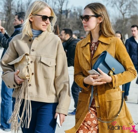 Sokak Stili Sonbahar Kış Trendi Süet Ceketler