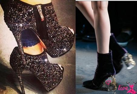 Taşlı Kış Modası Ayakkabı Trendleri