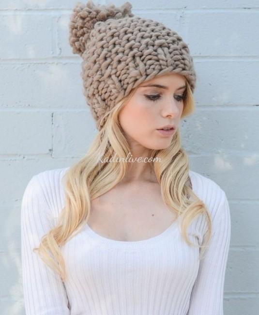 Örme Şapka Modelleri Yeni Örnekler