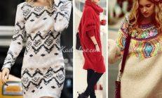 Kış 2016 Moda Trendleri 15 Örgü Elbise Modelleri