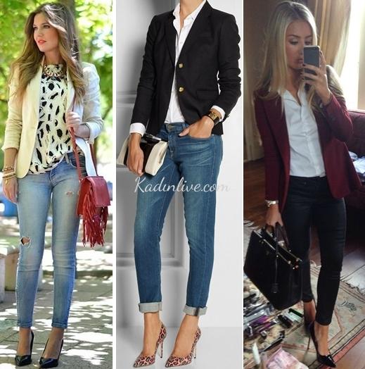 Blazer Ceket ve Gömlek Kombinleri Sokak Stili