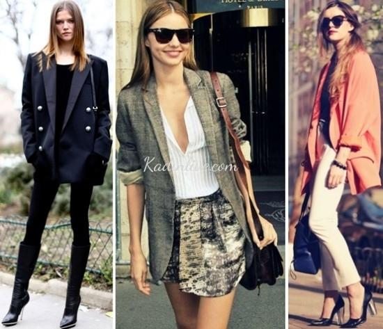 Boyfriend Blazer Ceket Sokak Modası Kombinleri