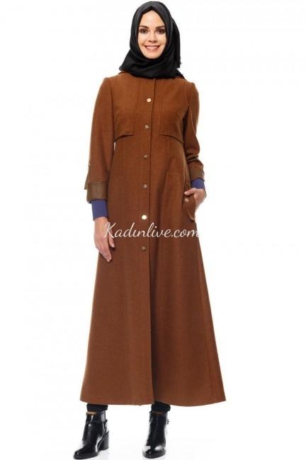 Deri Detaylı Camel Pardesü Modelleri 2016 Kayra