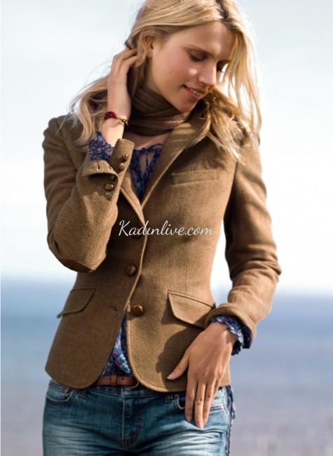 H&M Camel Rengi Kışlık Bayan Ceket Modelleri