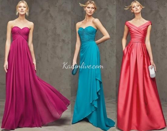 Pronovias Renkli Abiye Elbise Modelleri 2016 17