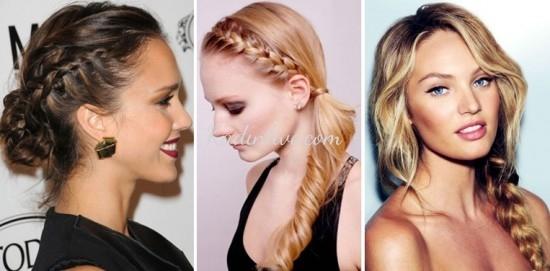 Romantik Saç Örgüsü Modelleri 2016 Trendleri