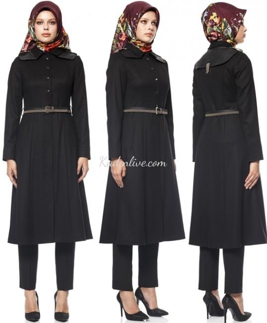 Siyah Pardesü Kışlık Modelleri 2016 Kayra