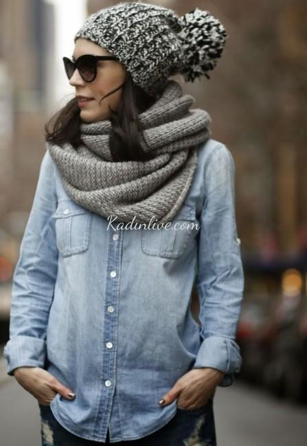 Sokak Stili Örgü Şapka Modelleri