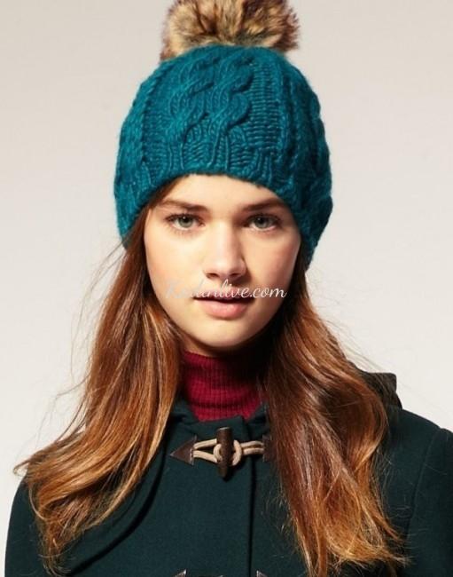 Sonbahar Kış Bayan Örgü Şapka Modelleri