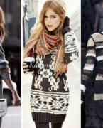 Kışlık Örgü ve Triko Elbise Kombinleri