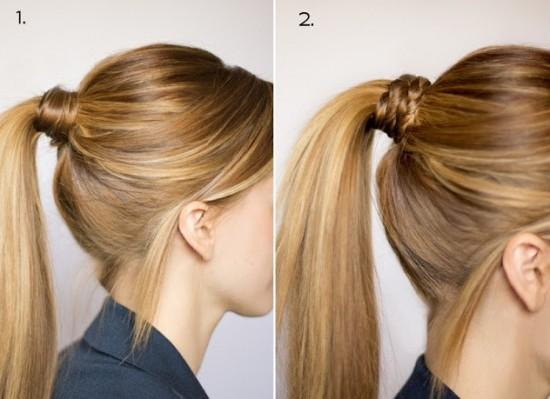 Atkuyruğu Saç Modeli Örgülü