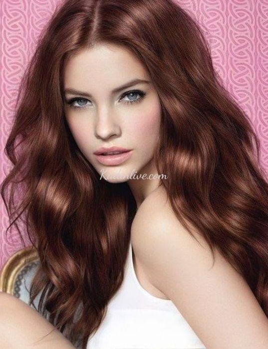 Havalı Bakır Saç Rengi ve Dalgalı Saç Modelleri
