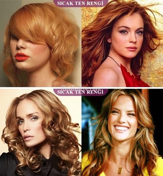 Sıcak ten rengine göre saç renkleri