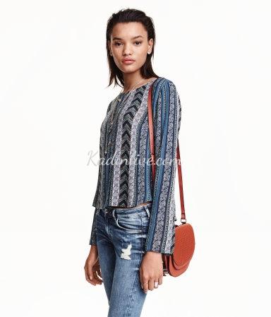 H&M Desenli Şık Bluz Modelleri