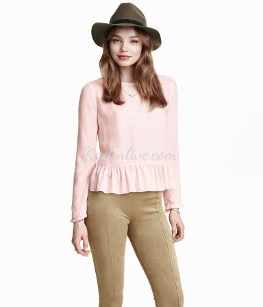 H&M Yeni Sezon Fırfırlı Bluz Modelleri
