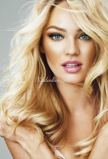 Altın Sarısı Saç Rengi Ve Dalgalı Saç Modeli Kadinlivecom