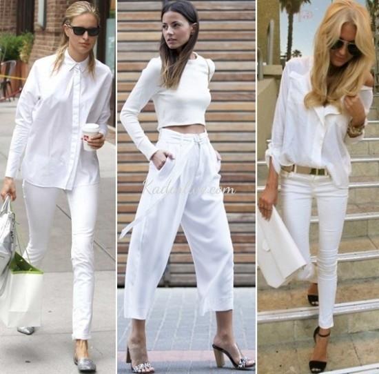 Beyaz Yazlık Kıyafet Kombinleri