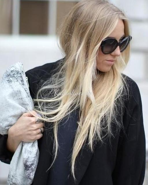 Küllü Sarı Saç Rengi Ve Düz Saçlar Kadinlivecom
