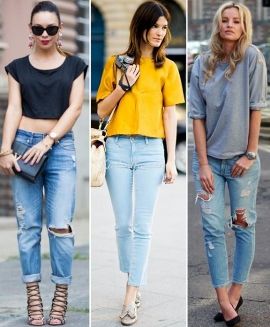 Kot Pantolon Yaz Modası Kombinleri