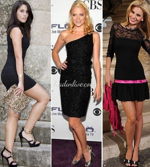 Parti İçin Siyah Elbise Kombinasyonu