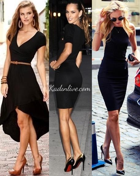 Siyah Elbise Nasıl Kombin Yapılır Kadinlivecom