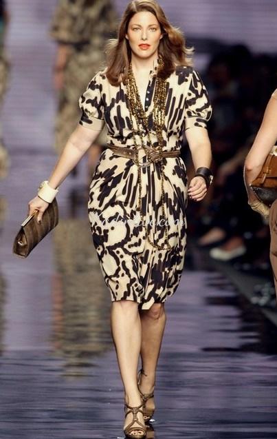 Desenli Büyük Beden Elbise Modelleri ve Kombinleri