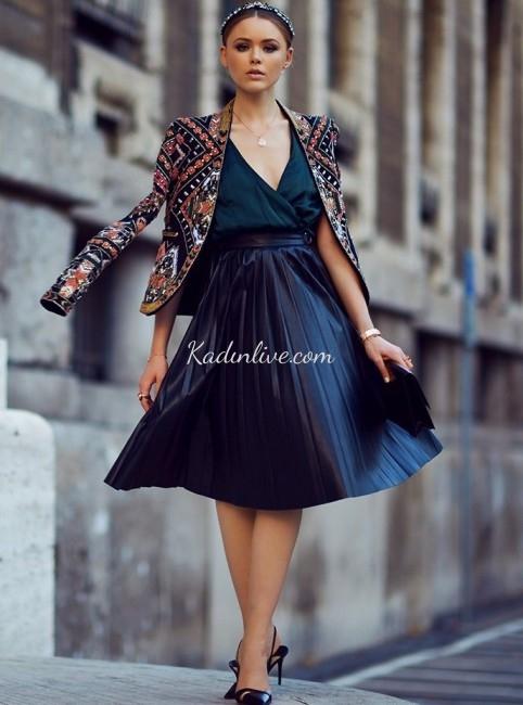 Uzun Bacaklı Bayanlar İçin Anvelop Elbise Modelleri